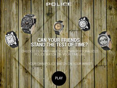 Police Facebook App Design