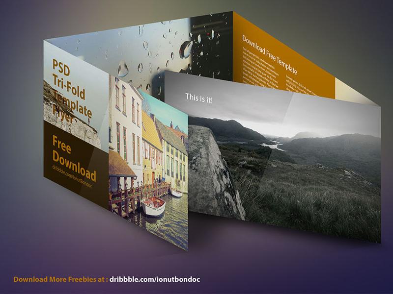 [FREE] Flyer PSD Template flyer template longshadow shadow design photoshop download free psd print freebie