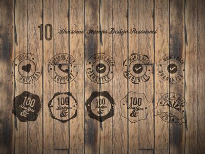 [Freebie PSD] 10 Badges Free badge freebie free psd badges stamps crop dots wood
