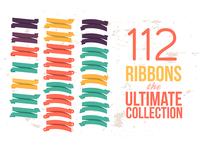 112 Ribbons Psd files