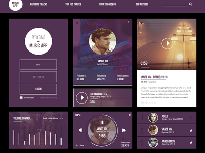 [Freebie PSD] Free Musicapp Ui Kit music app music freebie ui kit clean flat icon ui design flat ui icons