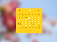 Coloristico flat ui kit preview calendar