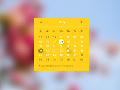 Calendar Ui Component