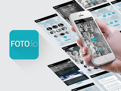 Foto.lio App Design uiux design iphone app photography mobile app design ui design uidesign photos template psd photoshop
