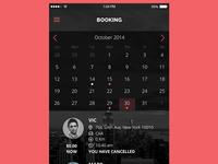Booking Screen Mobile App