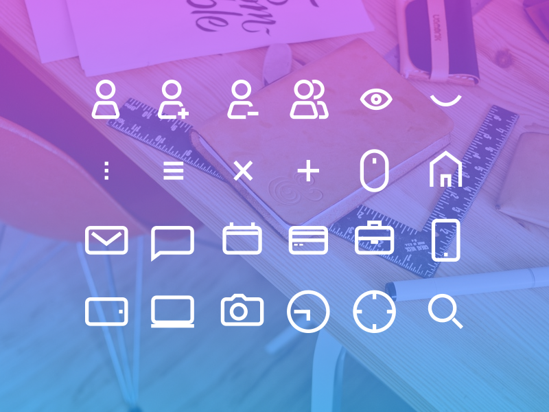 24 Icon Set icons user interface user mail chat calendar icon design ui design material design freebie