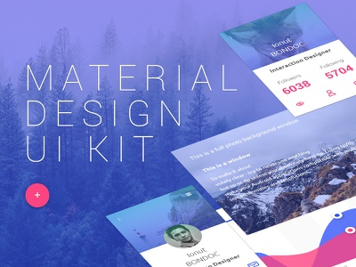 Free Material Design Ui Kit colored icons free material design ui kit free ui kit material material design modern ui kit user interface design uikit