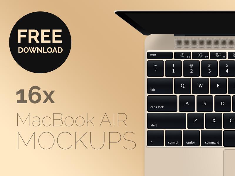 New macbook air 2015 mockup
