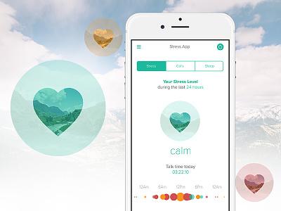 StressApp Mobile Design app design iphone design app voice app ui design ux design mobile design