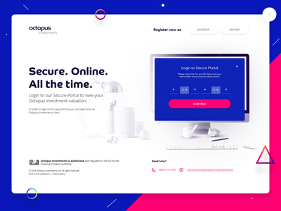 Portal Login Page registration login ui ui design login page