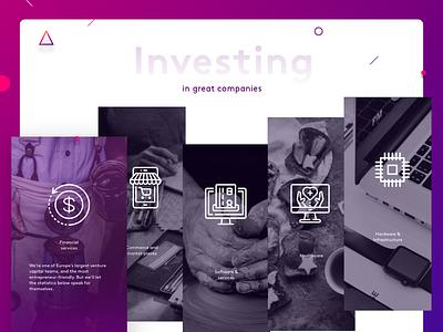 Investing Preview investing. photos hover hover material design flat design web design ux design uidesign