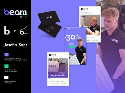 Beam Logo instagram stories facebook ad social media business card graphicdesign logo design logo web branding