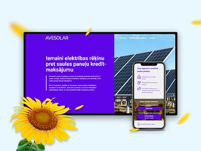 Avesolar web website design website webdesign design