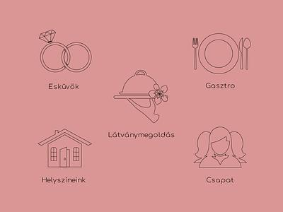 Waldorfwedding branding artwork social media icon illustration art web vector illustration design graphicdesign