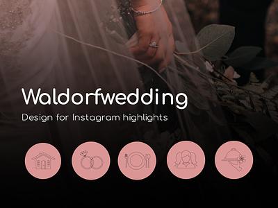 Waldorfwedding icon branding artwork social media illustration art web vector illustration design graphicdesign