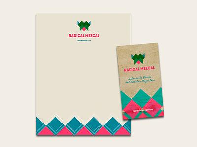 Radical  Mezcal Stationary branding design logo brand