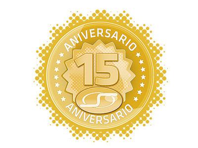 Sensey 15 Aniversary stamp vector graphic