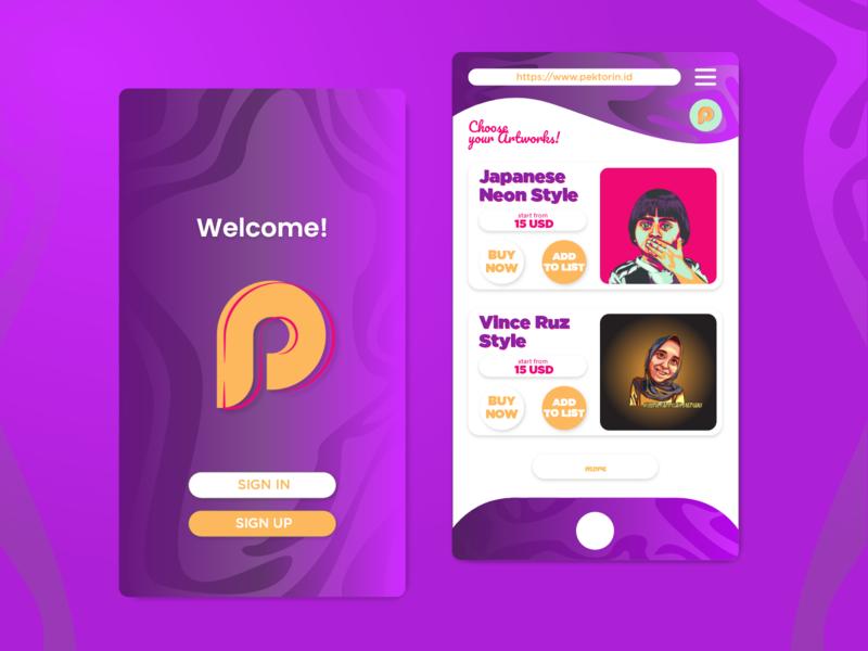 Pektorin.id UI/Web Design personal website vectorart branding web design uiux uidesign