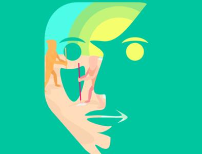 My Eco-Friendly Facecation beach logo design classic art vector adobe illustrator vectorart illustration