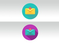 Flat Envelope Icon experiment