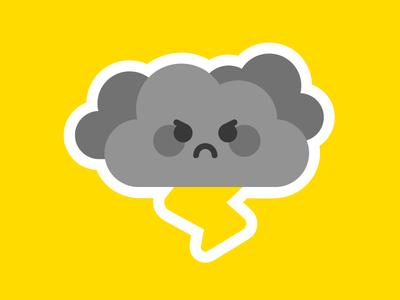 Very angry cloud