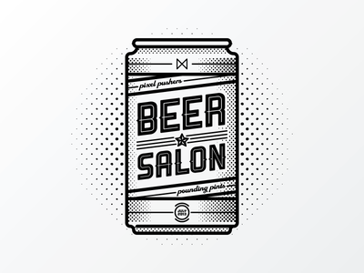 Beer Salon July beer can salon halftone july pixel pints