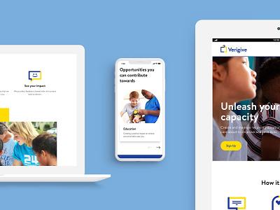 Verigive responsive design website icon design branding logo design web uxdesign ux ui design ui