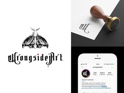 WrongsideArt - Brand Identity client work logo design logotype instagram ink illustrative logotype gothic metal brand identity identity designer identity design illustration typography branding logo