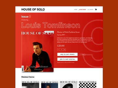 HoS - Product Page E-commerce Concept