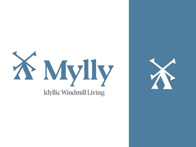 Mylly - Branding Concept ui ui design user interface design typography design typeface typographic experiment typography branding and identity service industry concept windmill logo logo design logotype identity designer identity design branding design branding concept branding