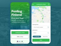 Car Pool App Concept - Pooling Finland