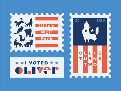 Birthday Package: Part One political politics cents stamp 2020 presidential campaign birthday stickers wolves wolf candidate election vote patriotic flag usa americana american president presidential