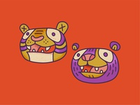 The Tiger and The Bear lion wildlife wild animal zoo oso bear tigre tiger