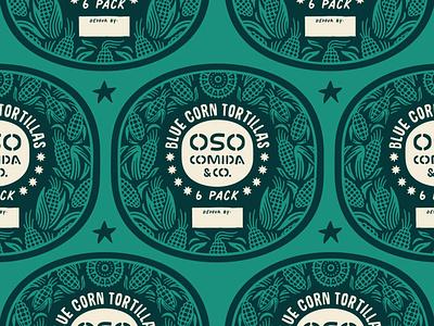 Corn Tortillas Packaging Labels label packaging food truck texas restaurant branding burritos tacos mexican cuisine mexico texmex mexican tortilla corn