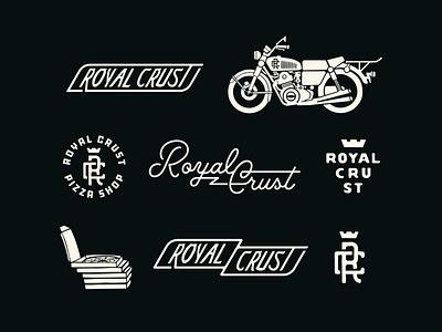 RC - Brand Package : Uno script banner monogram pizza box crown biker motorcycle bike restaurant branding restaurant pizzeria pizza