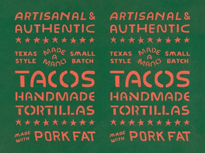 Oso Typographic Elements banner poster stars restaurant branding restaurant mexico tex mex texas mexican tacos tortillas typography custom lettering lettering hand lettering