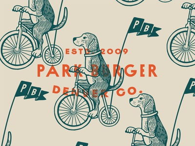 Good Boy american hound beagle branding restaurant branding restaurant brand restaurant banner flag bicycle bike doggy dog illustration dog