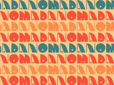 Nomada: Uno logo design logo branding brand surfer traveler nomad thread pattern textile california baja mexico mexican vintage retro 70s art deco retro typography typography