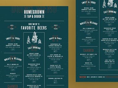 H.G. Beer Menu drinks beers cocktails restaurant branding apres ski colorado restaurant menu menu design restaurant typography layout design