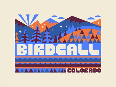 Birdcall Merch: Uno hills pattern pattern design brand merchandise hike trail outdoors landscape snowflake snow river trees pine quilt mountains colorado branding birdcall