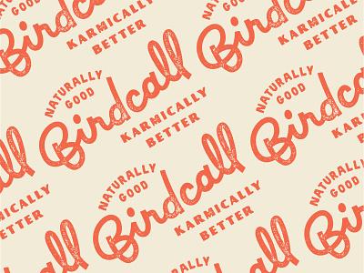 Birdcall Merch: Dos pattern design pattern merchandise karma restaurant design restaurant birdcall lock up lockup wordmark branding brand logotype logo custom lettering hand lettering lettering font typography