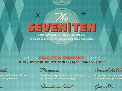 Splitsville Drink Menu restaurant typography layout menu menu design layout design retro sixties fifties splitsville drinks bar