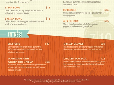 Splitsville Gluten-Free Menu