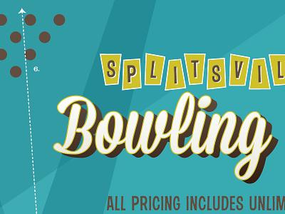 Splitsville Pricing Poster typography restaurant retro sixties fifties bowling splitsville layout layout design design