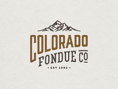Colorado Fondue Co. Rebrand // 2 restaurant logo restaurant branding brand logo design logo