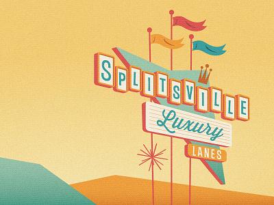 Splitsville Graphic illustrator custom retro vector art vector cartoon illustration