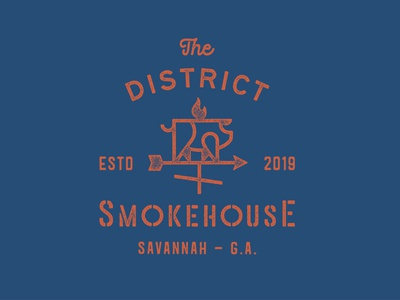 Smokehouse: Logo Three fire flame monoline custom typography lettering organic farm weathervane pig hog smokehouse barbecue bbq pub bar restaurant logo brand brand identity branding