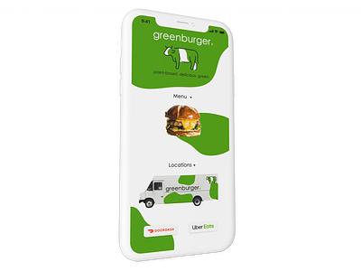greenburger. Food Truck App logo branding rebound
