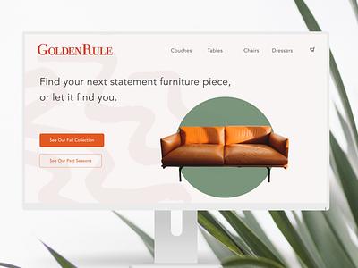Landing Page for Furniture Store #DailyUI003 design dailyui003 minimal ui dailyuichallenge dailyui