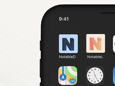 App Icon Design Notable #DailyUI logo icon dailyui005 dailyuichallenge dailyui daily ui